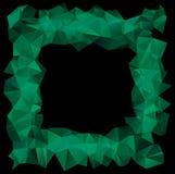 Green crystallic frame Royalty Free Stock Photo