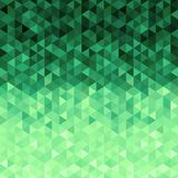Green crystals background. Triangle pattern. Green background of geometric shapes imitation crystals. Pixelated style vector illustration