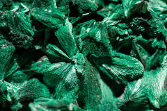 Green crystals of malachite Royalty Free Stock Photo