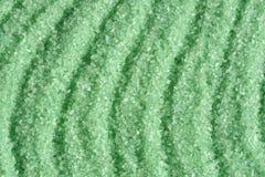 Green crystals of sea salt Royalty Free Stock Photos