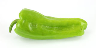 Green cubanelle chili pepper Royalty Free Stock Images