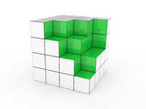 Green cube Royalty Free Stock Photos