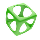 Green Cube Royalty Free Stock Images
