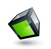 Green cube Royalty Free Stock Photography