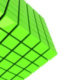 Green cube abstract background Stock Image