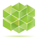 Green cube design Stock Images