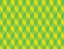 Green Cube Vector Pattern stock photo