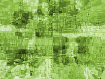 Green Cubed Stock Photography