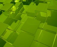 Green cubes Royalty Free Stock Photo