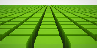 Green Cubes Stock Photos