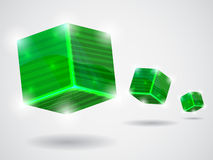 Green_cubes Royalty Free Stock Image