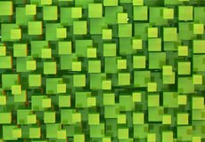 Green cubes abstract background. Bright green cubes abstract background Royalty Free Stock Image