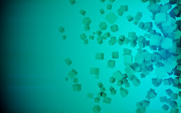 A green cubes abstract background, 3d Illustration. Art, concept stock illustration
