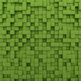 Green Cubes Background Royalty Free Stock Photo