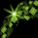 Green Cubes Background Means Futuristic Royalty Free Stock Photography