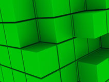 The green cubes Stock Photography