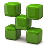Green cubes Stock Photography