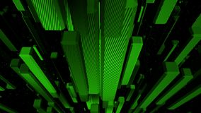 Green cubes looping abstract background. Collection stock footage