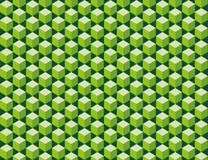 Green cubes seamless texture. Abstract pattern from green cubes. Seamless texture Royalty Free Stock Photo
