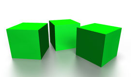 Green cubes Royalty Free Stock Images