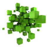 Green cubic background Royalty Free Stock Photography