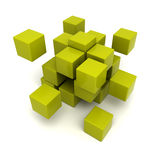 Green cubic background. 3D rendering of a green cubic background Royalty Free Stock Images