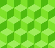 Green cubic seamless pattern Royalty Free Stock Photos
