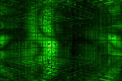 Green cubic space Stock Photography