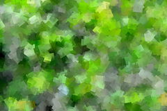 Green Cubism Design Stock Photo