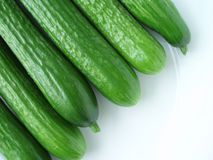 Green cucumber Stock Photo