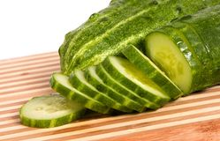 Green cucumber Stock Photo