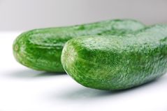 Green cucumber Royalty Free Stock Photo