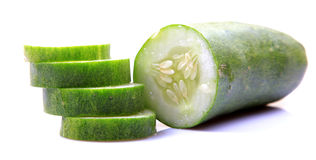 Green Cucumber Salad Stock Photos