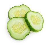 Green cucumber slice Royalty Free Stock Image