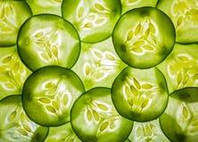 Green cucumber slide Stock Images