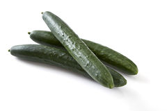 Green cucumber vegetable fruits Royalty Free Stock Photos