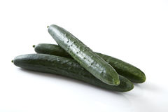 Green cucumber vegetable fruits Royalty Free Stock Images