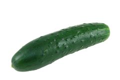 Green Cucumber On A White Background Royalty Free Stock Images