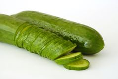 Green cucumbers Stock Image