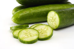 Green cucumbers Royalty Free Stock Photography