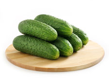 Green cucumbers Royalty Free Stock Images