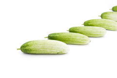 The green cucumbers. Isolated on white Stock Photo