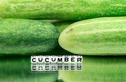 Green cucumbers background Royalty Free Stock Photography