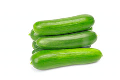 Green cucumbers group Stock Image