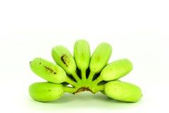 Green cultivated banana Stock Photos