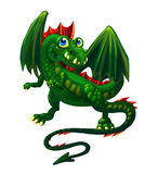 Green cunning dragon Royalty Free Stock Photo