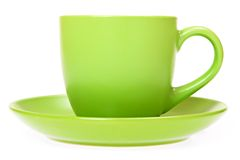 Green cup Stock Photos
