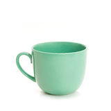 The green cup. The big green cup or mug on a white background stock images