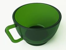 Green cup. An empty green glass cup of tea Royalty Free Stock Image