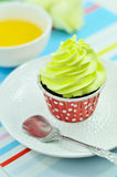 Green cup cake Royalty Free Stock Images